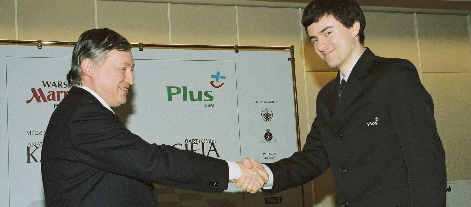 Początek meczu Karpow – Macieja, hotel Marriott, 7-10 kwietnia 2003